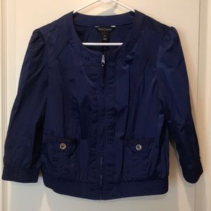 Electric blue summer jacket.